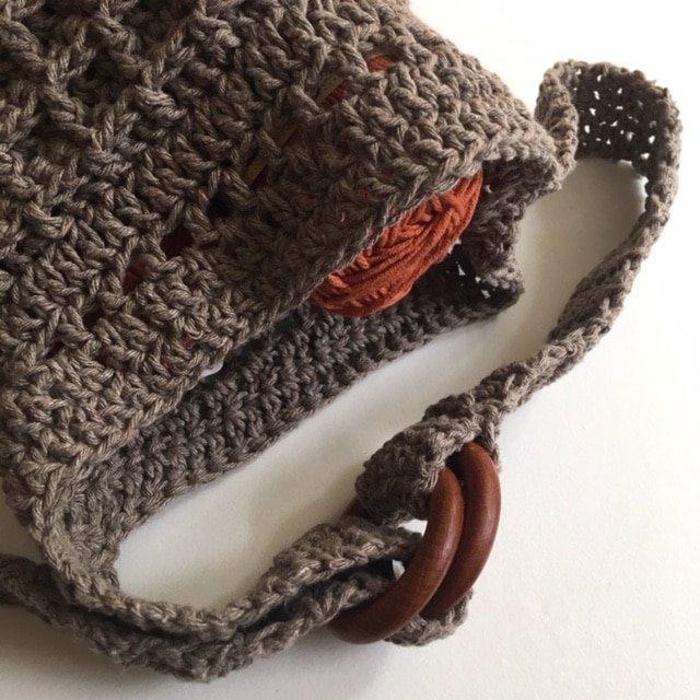 Belgian waffles crochet bag